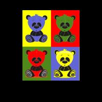 Panda Bunt Pop Art - Stofftier, Plüschtier