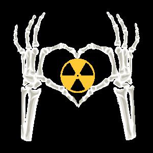 Radiologie Skelett Atom Techniker Student Geschenk