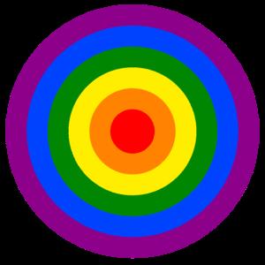Regenbogenfahne Kreise Lesben- Schwulenbewegung