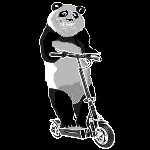 Elektroroller E-Roller Panda Bär Geschenkidee
