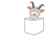 Ziege Tasche - Stofftier, Plüschtier, Geschenk