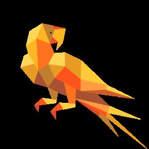 Papagei 3D Illustration Vektor Grafik Geometrie