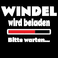 Windel wird beladen - Baby Funshirt