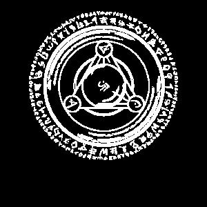 Runenkreis Cirkel Runen Dreieck magisches Zeichen