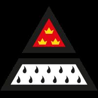 Köln Wappen Dreieck 4-farbig Digitaldruck