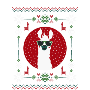 UGLY SWEATER LLAMA COLOR PNG