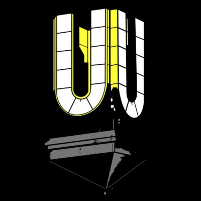 Dortmunder U - Einer der Wahrzeichen von Dortmund in Retro Look. - stadt,dortmund,city,U-Turm,Retro