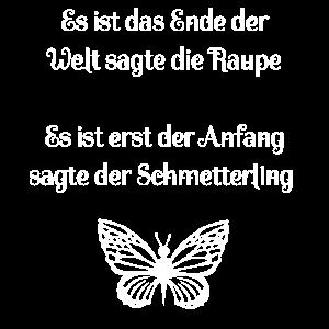 Schmetterling Spruch Geschenk Motivation
