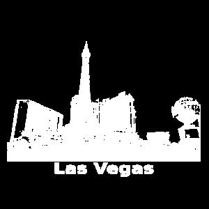 Las Vegas Panorama Skyline Weiß