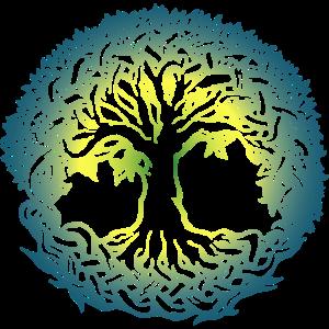 Lebensbaum Boho Bunt Natur Keltisch Geschenk norse