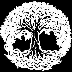 Lebensbaum Boho Weiß Natur Keltisch Geschenk norse