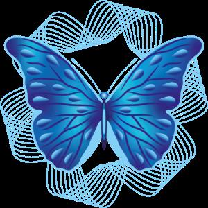 07 Schmetterling blau fliegt