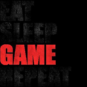 Eat Sleep Game Repeat Nerd Clan Gaming Geschenk