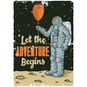 Astronaut Mond Raumfahrt Weltraum Geschenk Space