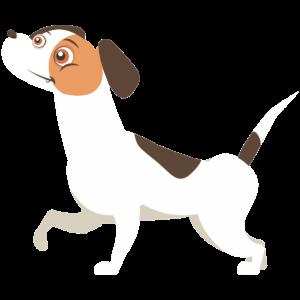 Lustiger Hund Knuddelig Geschenk Cartoon Wuff