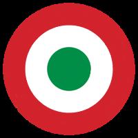 Coccarda Italia mit Vintage-Effekt