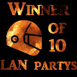 Winner of 10 Lans