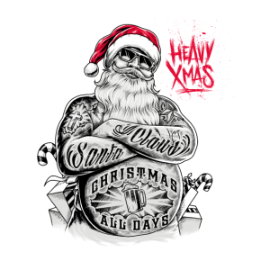 Gift for Xmas Heavy Metal rockin Christmas Tshirt