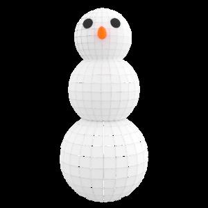 Schneemann Frosty Art 3D Kunst Weihnachts Geschenk