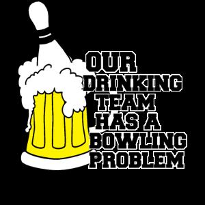 Bowling Bier Trinkteam T-Shirt