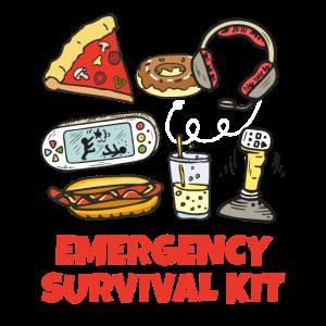 Lustige moderne Notfall-Überlebensausrüstungs-Pizza-Geräte