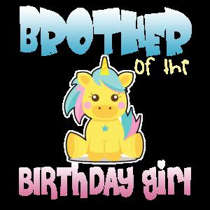 Bruder des Einhorn-Geburtstagsmädchens