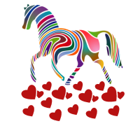 i love you - cute horse - valentines day gift