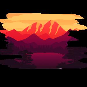 Landschaft Berge Malerei Geschenkidee