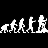 Wandern Evolution die Berge rufen Wandergeschenk