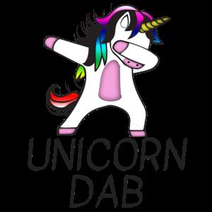 Unicorn Einhorn Glitzer Swag Dab Dabbing Dance