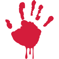 blutende hand - bleeding hand