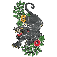 Panther old school traditional Tattoo Geschenk