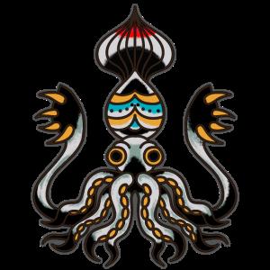 Oktopus Krake old school Vintage Tattoo Geschenk