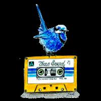 Vintage vogelfreier Ton