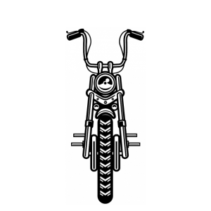 Chopper Biker Motorradfahrer Motorrad