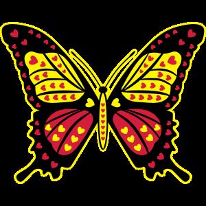 11 Schmetterling Herzen