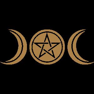 Mond Göttin Symbol, Pentagramm, Wicca, Natur