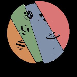 Retro Planeten - Sonnensystem