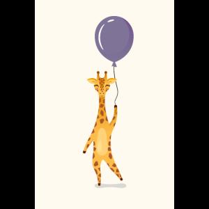 Giraffe Balloon Illustration