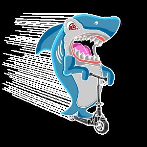 Elektroroller E-Roller E-Tretroller Hai