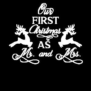Hochzeit Erstes Weihnachten Mann & Frau Geschenk