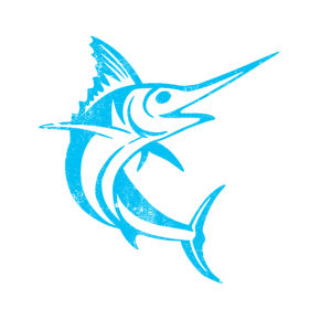 Dearadh Bronntanais Ainmhithe Éisc Blue Marlin