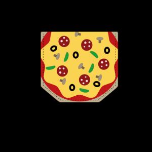 Brusttasche Pizza Geschenk Idee