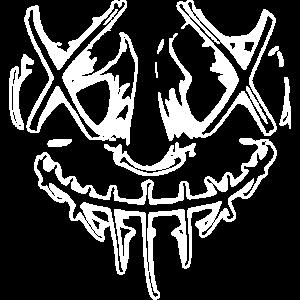 böse Horror Gesicht (Purge Optik) weiß