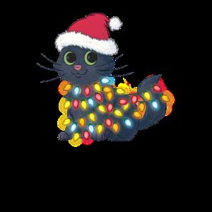 Weihnachten Katze Christmas Mütze Geschenk