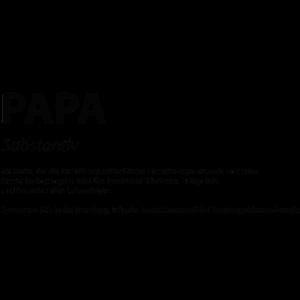 Wort Definition Papa Geschenk Idee