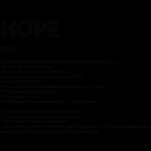 Wort Definition hope Geschenk Idee