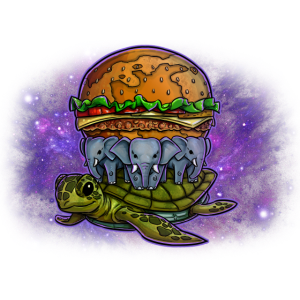 Flat Earth Burger in Space