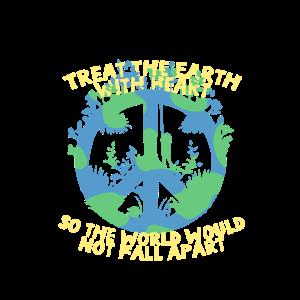 """""""EARTH WITH HEART"""" ~ Frieden Zeichen Umweltschutz"""
