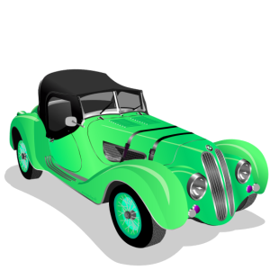 Oldtimer Roadster green